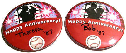 Happy Anniversary Celebration Button