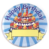 Happy Birthday Celebration Button